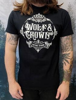 black Wolf and Crown tee